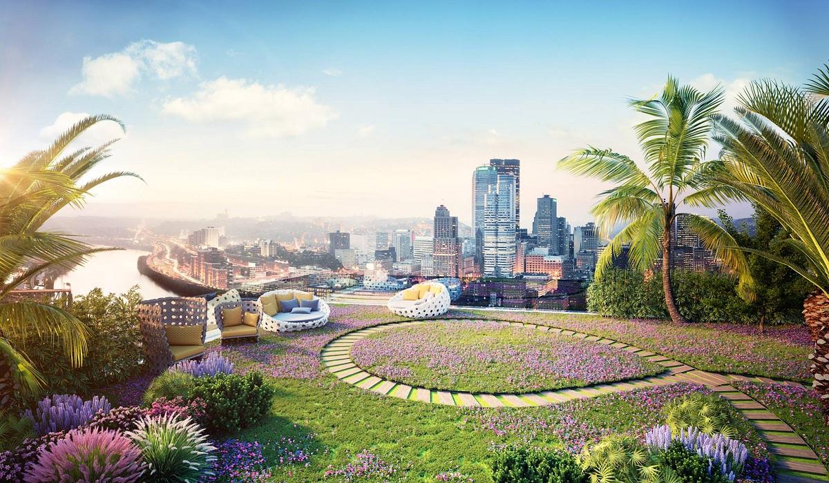 vườn trên nóc imperia sky garden