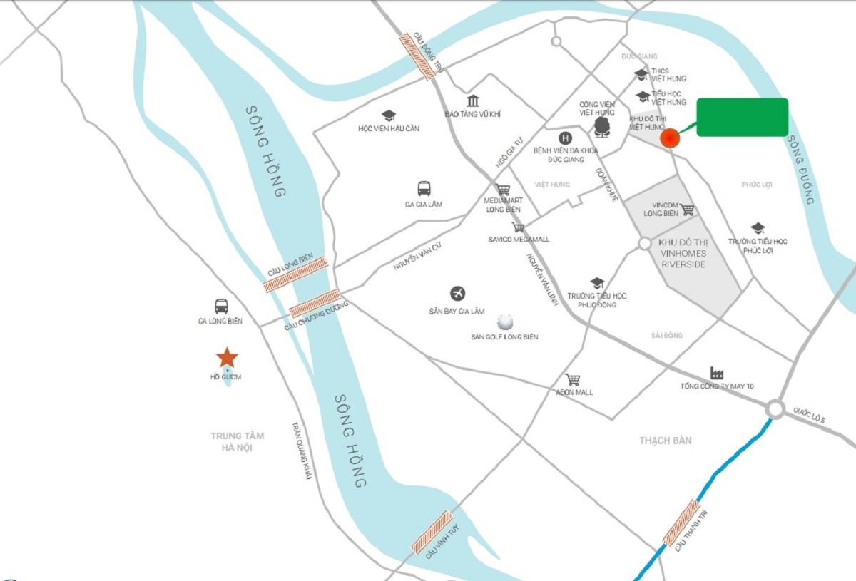 vị trí dự án ruby city 2