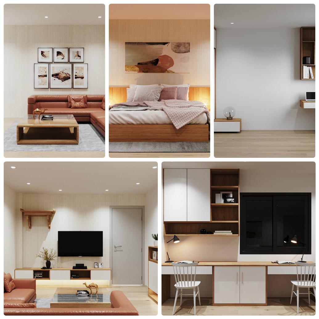 thiết kế căn hộ sài đồng lake view